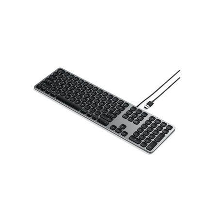 Satechi Aluminum Wired Keyboard Space Grey